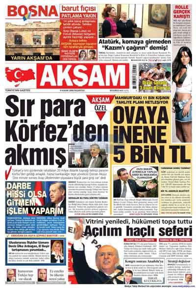 Gazete manşetleri (9 Kasım) galerisi resim 1