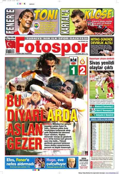 Gazete manşetleri (9 Kasım) galerisi resim 10