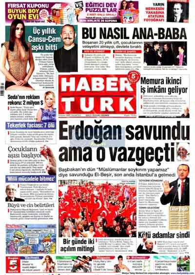 Gazete manşetleri (9 Kasım) galerisi resim 12