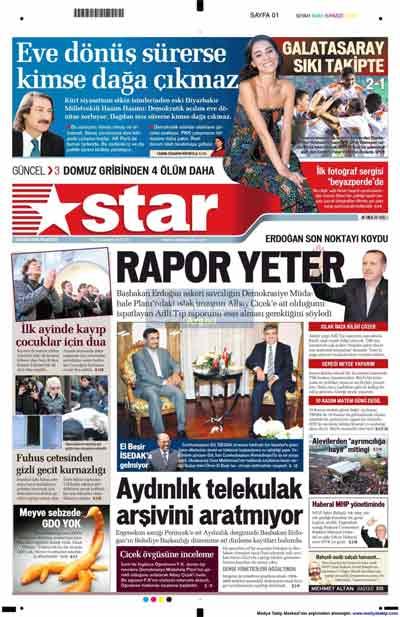 Gazete manşetleri (9 Kasım) galerisi resim 22