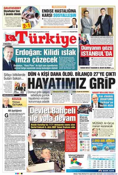 Gazete manşetleri (9 Kasım) galerisi resim 25