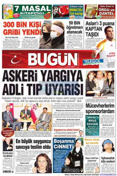 Gazete manşetleri (9 Kasım) galerisi resim 3