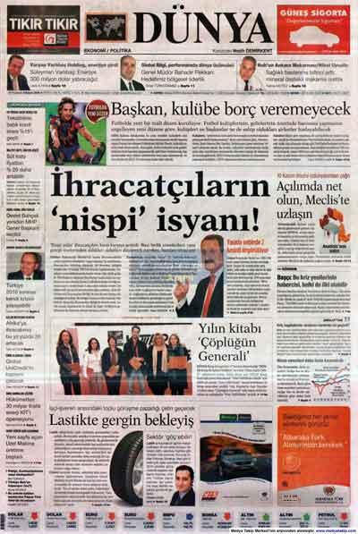 Gazete manşetleri (9 Kasım) galerisi resim 5