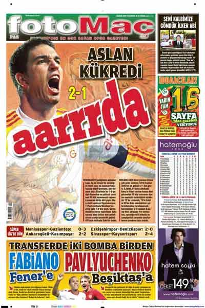 Gazete manşetleri (9 Kasım) galerisi resim 9