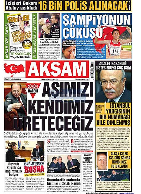 Gazetelerin Albay Çiçek manşetleri galerisi resim 1