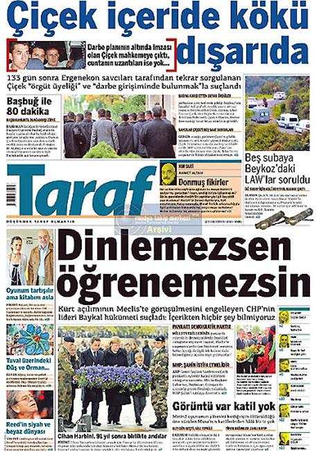 Gazetelerin Albay Çiçek manşetleri galerisi resim 13