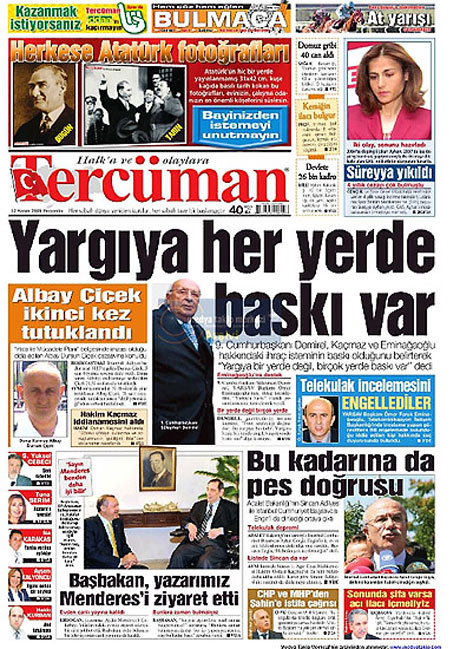 Gazetelerin Albay Çiçek manşetleri galerisi resim 14