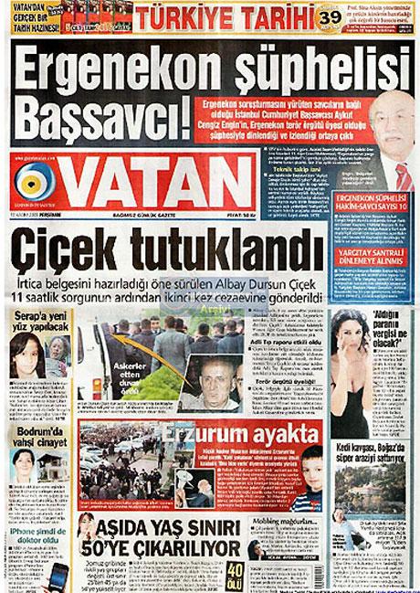 Gazetelerin Albay Çiçek manşetleri galerisi resim 16