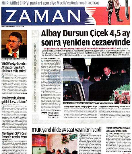 Gazetelerin Albay Çiçek manşetleri galerisi resim 18
