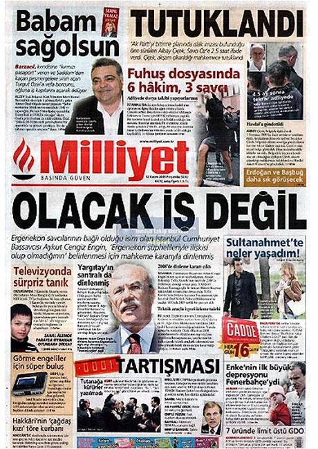 Gazetelerin Albay Çiçek manşetleri galerisi resim 7