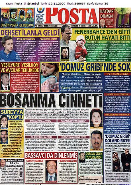 Gazetelerin Albay Çiçek manşetleri galerisi resim 8