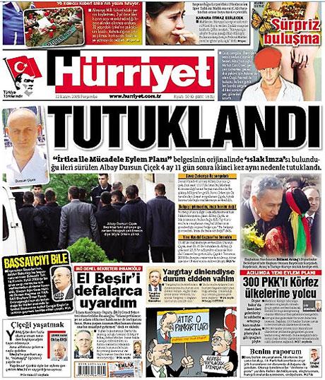 Gazetelerin Albay Çiçek manşetleri galerisi resim 9