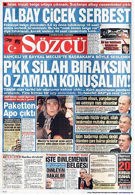 Gazetelerin açılım manşetleri galerisi resim 14