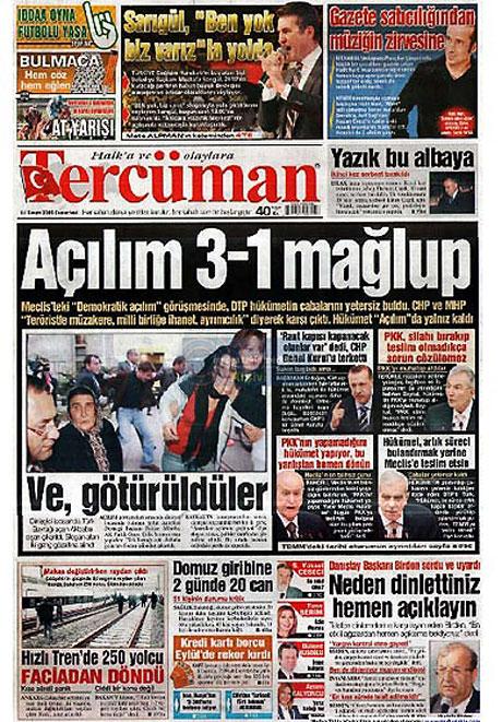 Gazetelerin açılım manşetleri galerisi resim 17