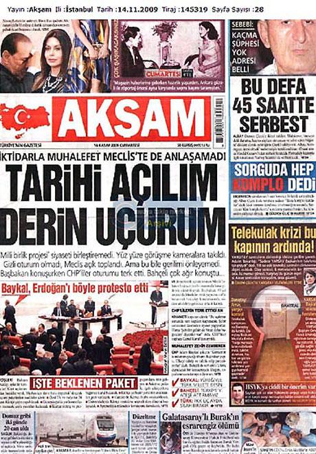 Gazetelerin açılım manşetleri galerisi resim 6