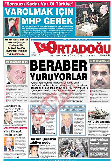 Gazete manşetleri (15 Kasım) galerisi resim 10