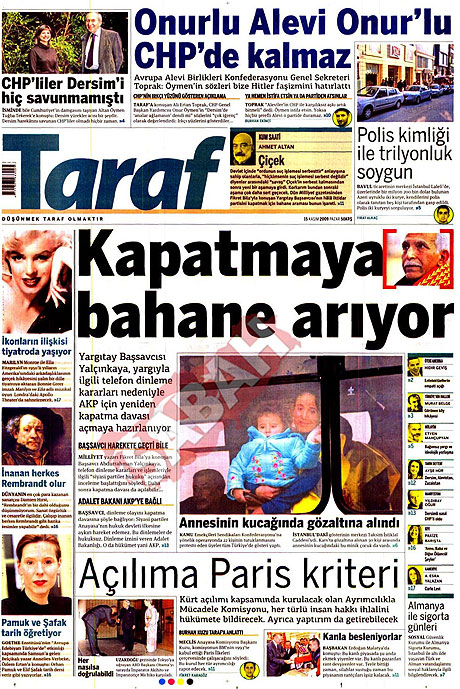 Gazete manşetleri (15 Kasım) galerisi resim 14