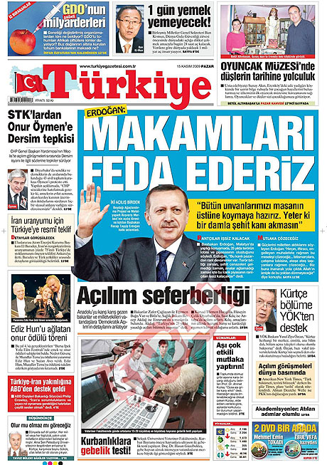 Gazete manşetleri (15 Kasım) galerisi resim 16