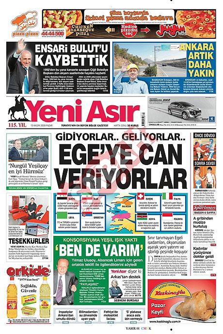 Gazete manşetleri (15 Kasım) galerisi resim 19