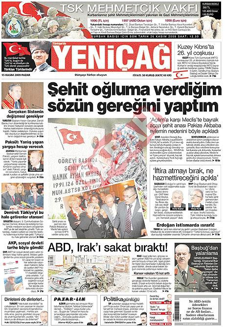 Gazete manşetleri (15 Kasım) galerisi resim 20