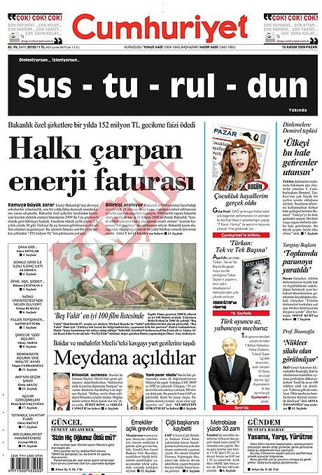 Gazete manşetleri (15 Kasım) galerisi resim 4