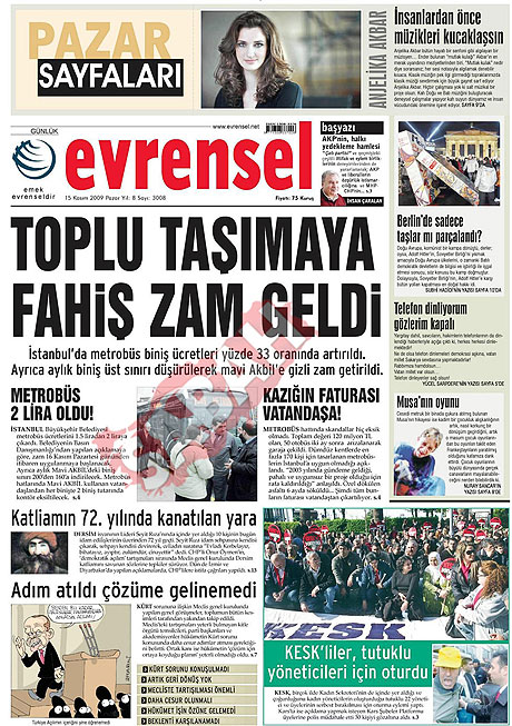 Gazete manşetleri (15 Kasım) galerisi resim 5