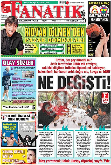 Gazete manşetleri (15 Kasım) galerisi resim 6