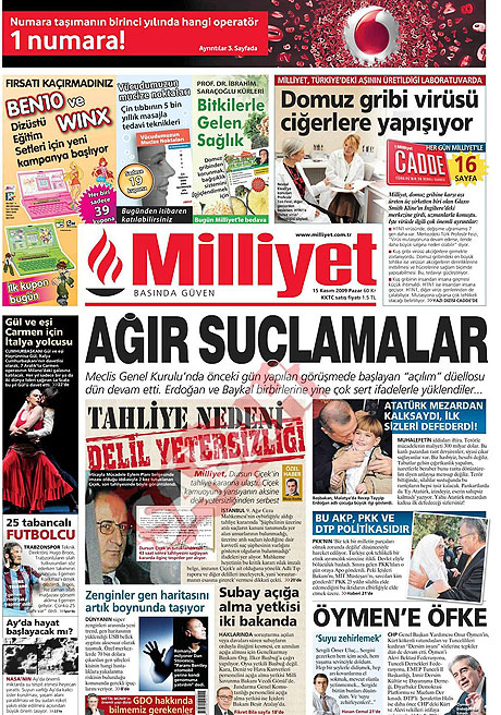 Gazete manşetleri (15 Kasım) galerisi resim 9