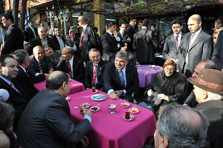 Cumhurbaşkanı halkla çay içti! galerisi resim 3