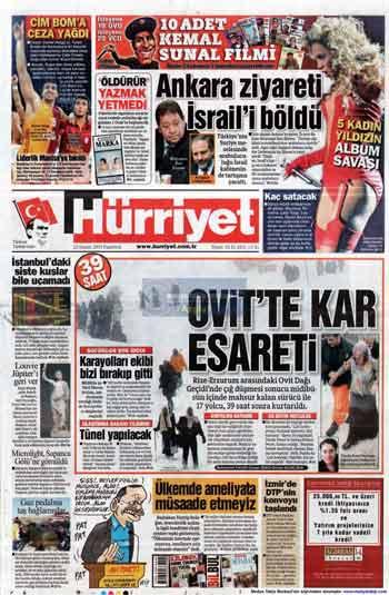 Gazete Manşetleri (23 Kasım) galerisi resim 8