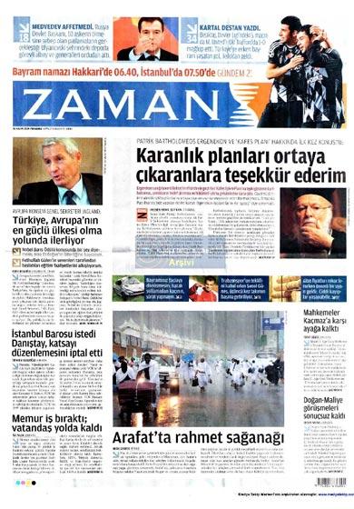 Gazete Manşetleri (26 Kasım) galerisi resim 13