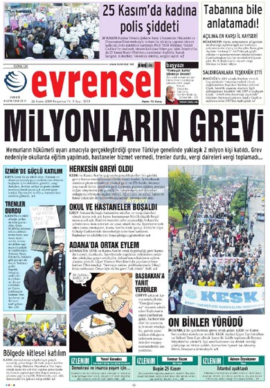 Gazete Manşetleri (26 Kasım) galerisi resim 25