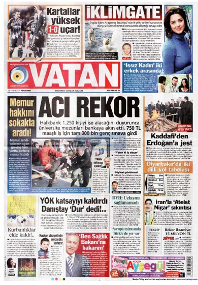 Gazete Manşetleri (26 Kasım) galerisi resim 3