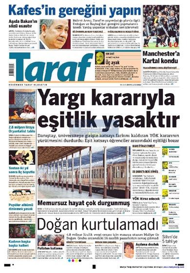 Gazete Manşetleri (26 Kasım) galerisi resim 9