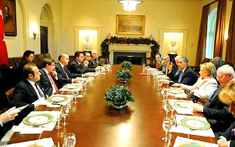 Obama-Erdoğan görüşmesinden kareler galerisi resim 14