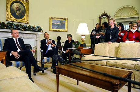 Obama-Erdoğan görüşmesinden kareler galerisi resim 30