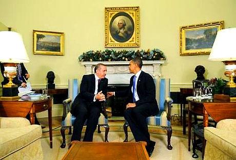 Obama-Erdoğan görüşmesinden kareler galerisi resim 4