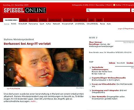 Berlusconi'nin burnunu kırdılar! galerisi resim 13