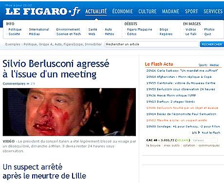 Berlusconi'nin burnunu kırdılar! galerisi resim 3