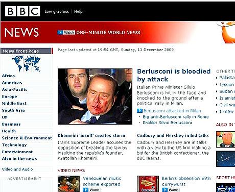 Berlusconi'nin burnunu kırdılar! galerisi resim 6