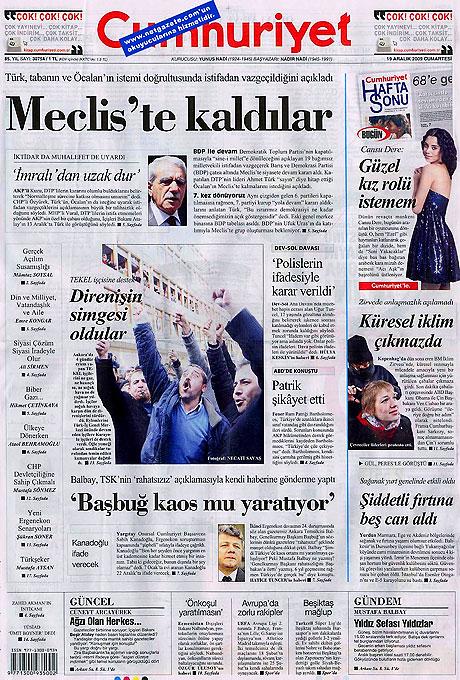 Türk basınında bugün (19 Aralık) galerisi resim 15
