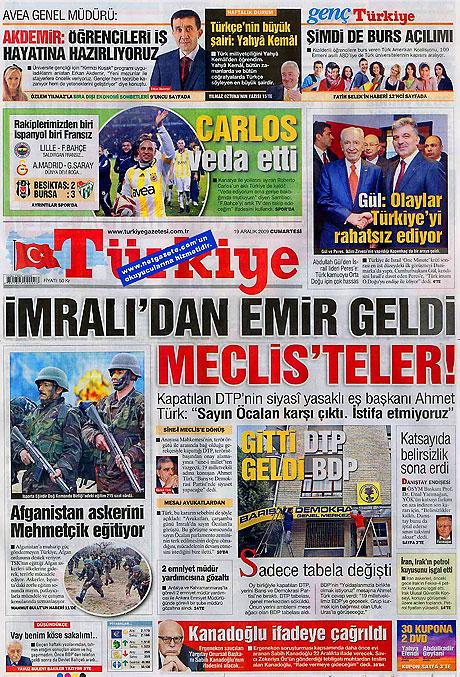 Türk basınında bugün (19 Aralık) galerisi resim 7