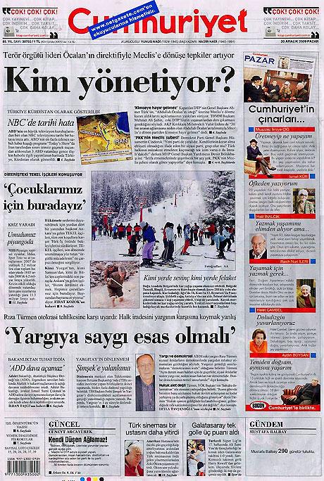 Günün Gazete Manşetleri (20 Aralık) galerisi resim 4