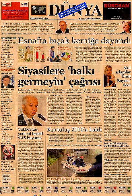 Günün Gazete Manşetleri (20 Aralık) galerisi resim 5