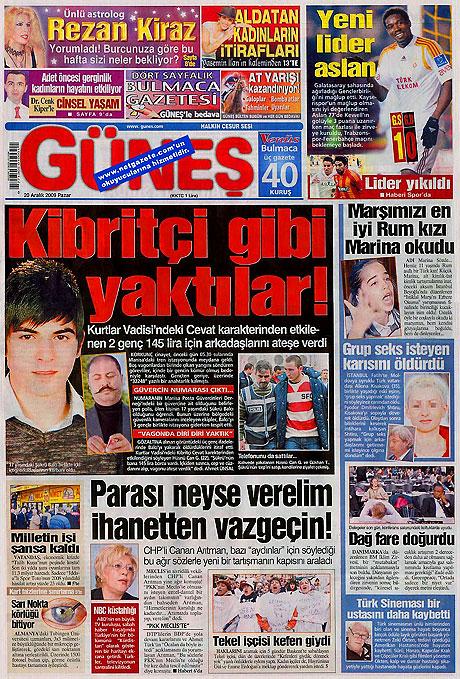 Günün Gazete Manşetleri (20 Aralık) galerisi resim 8