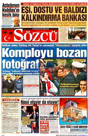 Günün Gazete Manşetleri (22 Aralık) galerisi resim 9