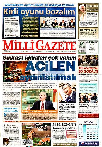 Gazete Manşetleri (25 Aralık) galerisi resim 22