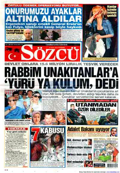 Türk basınında özür manşetleri! galerisi resim 15