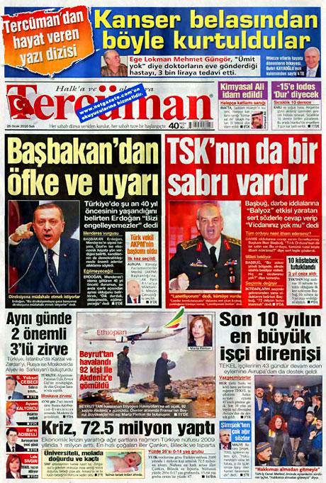 Gazetelerin 'Allah Allah' manşetleri galerisi resim 1