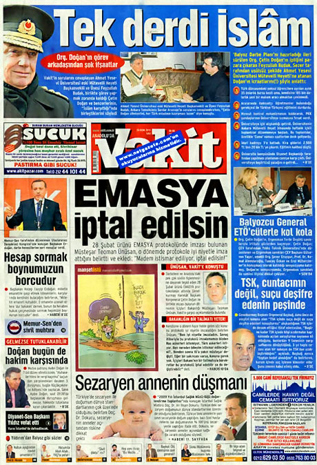 Gazetelerin 'Allah Allah' manşetleri galerisi resim 13